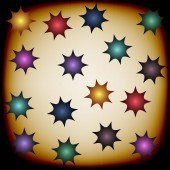 Background with color stars — Stok Vektör