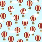 Pattern with balloons — Stock Vector