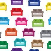 Muster mit sofas — Stockvektor