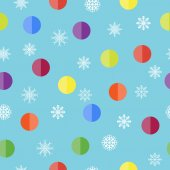 Pattern with snowflakes and balls — ストックベクタ