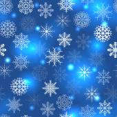 Blue pattern with snowflakes — Stock Vector