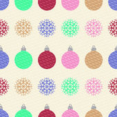 Pattern with colorful balls and snowflakes  — Stock Vector