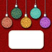 Background with colorful balls  — Stockvektor