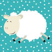 Vector funny sheep — Stock Vector