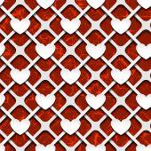 Hearts with shadow — Vector de stock