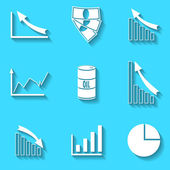 Set of the vector icons — Vetor de Stock