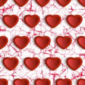 Modèle avec coeurs — Vecteur