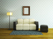 Interior room with sofa — Stock Photo