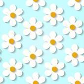 Texture with paper flowers — Vector de stock