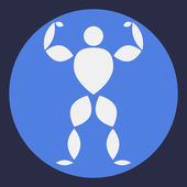 Logo with bodybuilder — Stock Vector