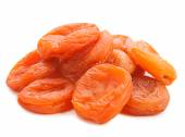 dried apricots isolated on white background — Stock Photo