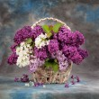 Lilac flowers in basket — Stock Photo #62293897