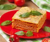 Tasty flavorful lasagna — Stock Photo