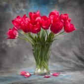 Buquê de tulipas vermelhas — Fotografia Stock