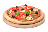 Tasty flavorful pizza — Stock Photo