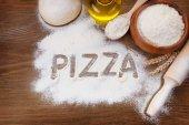 The inscription on the board Pizza — Stock Photo