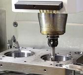 CNC technology. metal milling machine — Stock Photo
