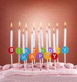 Festive concept. Happy birthday candles — Stock Photo