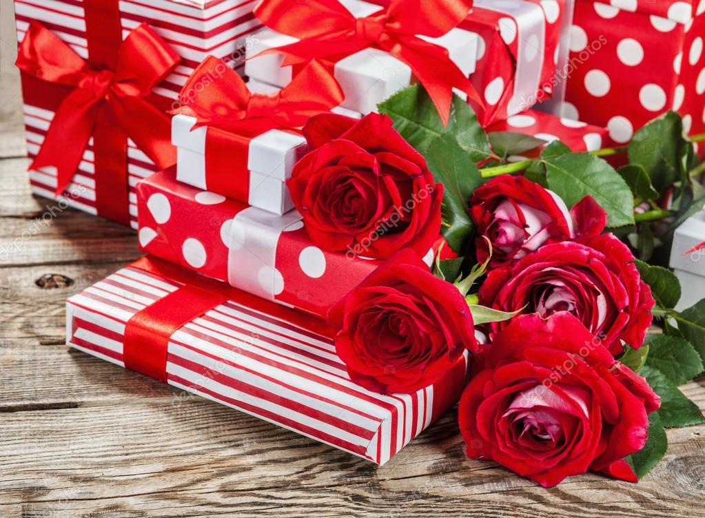 Фотографии подарков с цветами