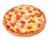Hawaiian Pizza isolated on a white background — Stock Photo