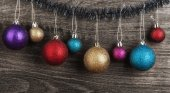 Christmas multicolor balls — Stock Photo
