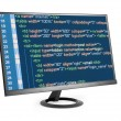 HTML code on computer monitor — Photo #56062435
