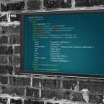 Program code on a monitor — Stock Photo #72131993