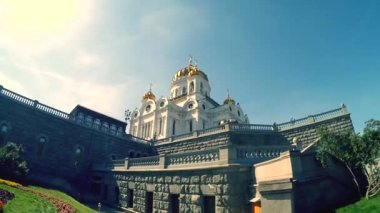 Собор christ спаситель — Стоковое видео
