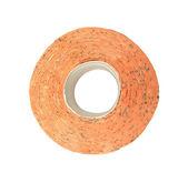 Toilet paper orange isolated on white — Stock Photo