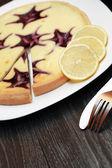 Bilberry Cheesecake — Stock Photo