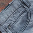 Jeans On Wood — Stock Photo #59750047