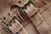 Leather With Belts — Stock Photo