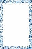 Su damlaları çerçeve — Stok fotoğraf
