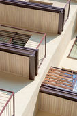 Balconies on building — Stock Photo