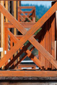 Wooden structure — Stock Photo