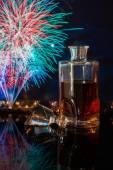 Bottle of whiskey — Stock Photo