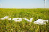 Letters love on  grass — Стоковое фото
