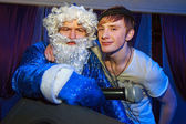 Santa and dj — Stock Photo