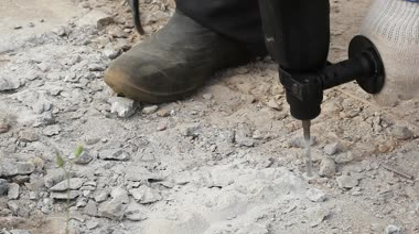 Drilling hole into concrete — Stock Video