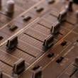 Dj sound mixer with knobs and sliders — Stock Photo #55265311