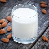 Almond milk, vegan healthcare drink — ストック写真