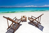 Tropical relax on white beach — Stock Photo