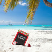 Waiting for Christmas holiday on tropical vacation — Stock Photo
