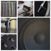 DJ tools collage — Stockfoto