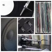 Dj tools collage — Stock Photo