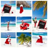 Noel Karayip beach kolaj — Stok fotoğraf