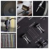 Dj tools collage — Stock Photo