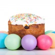 Easter cake and painted eggs — Stock Photo #62225017