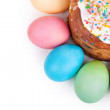 Easter cake and painted eggs — Stock Photo #62225265