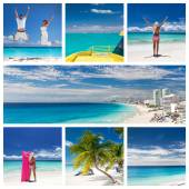 Collage with different views of Cancun — Stock Photo